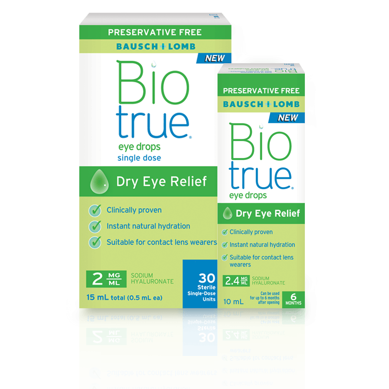 Preservative-Free Biotrue® Eye Drops
