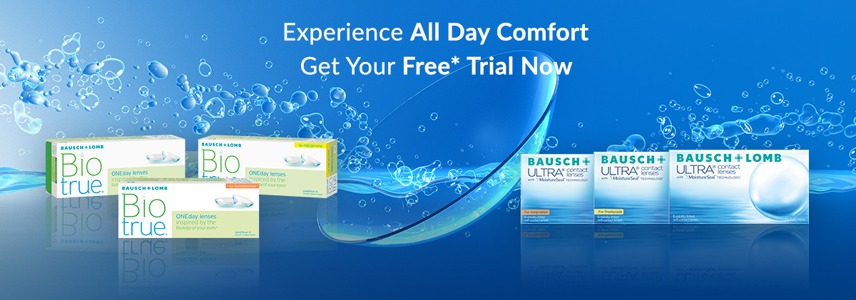Free trial for contact lenses